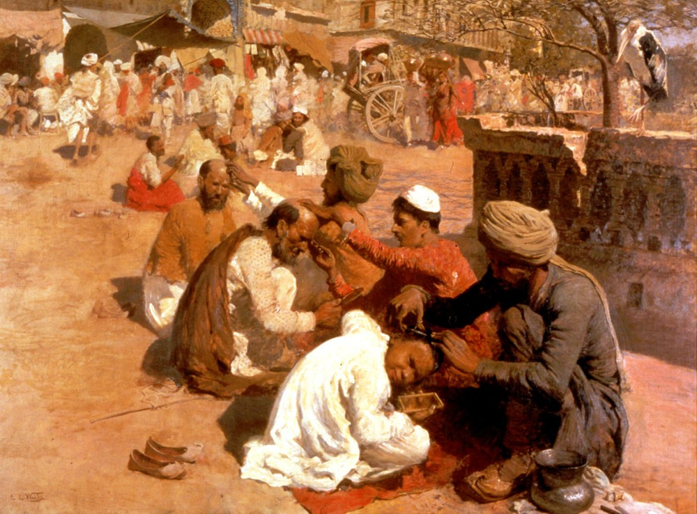 Indian Barbers Saharanpore by Edwin Lord Weeks