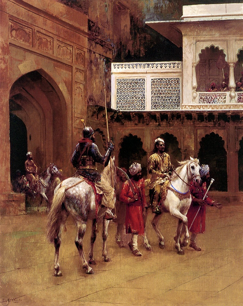 Indian Prince Palace Of Agra by Edwin Lord Weeks