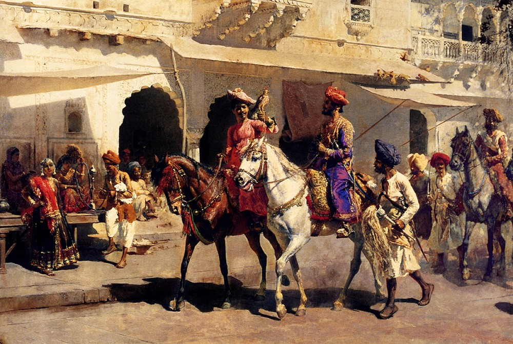 Leaving For The Hunt At Gwalior by Edwin Lord Weeks