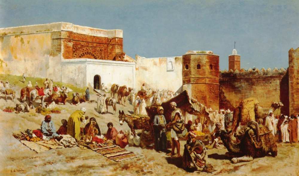 Open Market Morocco by Edwin Lord Weeks