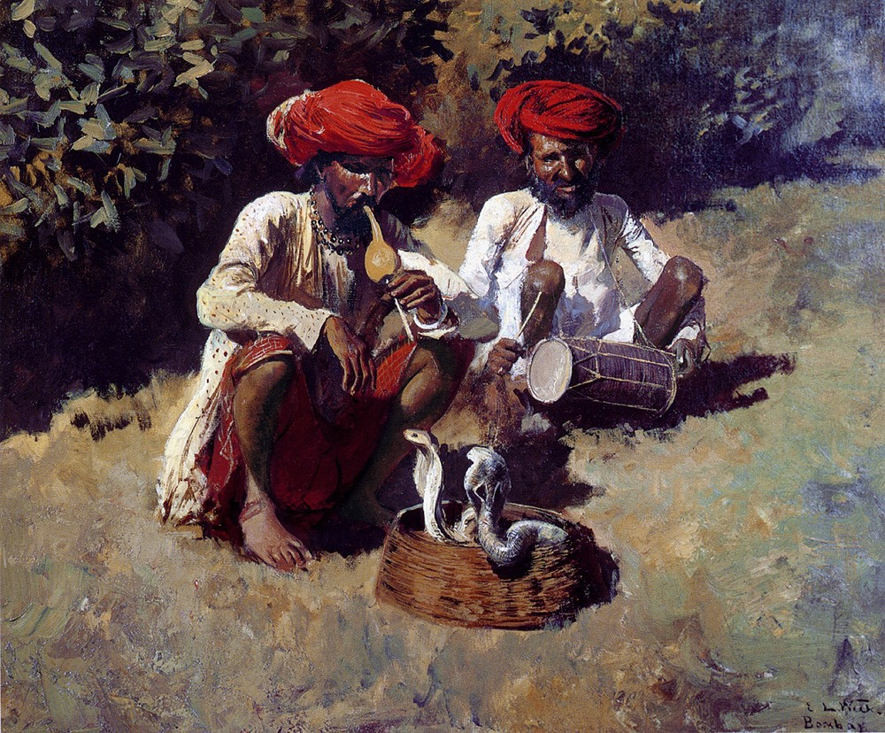 The Snake Charmers Bombay by Edwin Lord Weeks