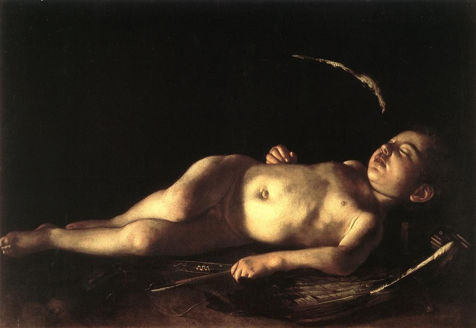 Sleeping Cupid by Michelangelo Merisi da Caravaggio