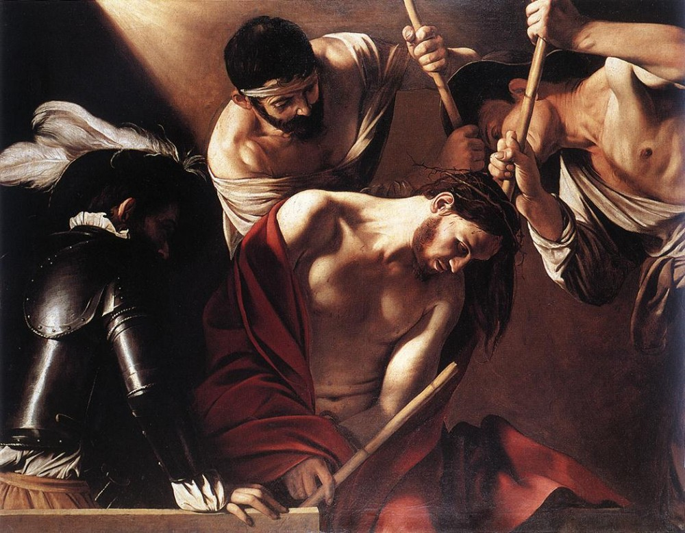 The Crowning with Thorns by Michelangelo Merisi da Caravaggio