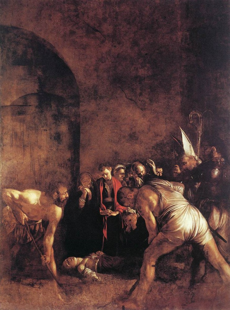 Burial of St Lucy by Michelangelo Merisi da Caravaggio