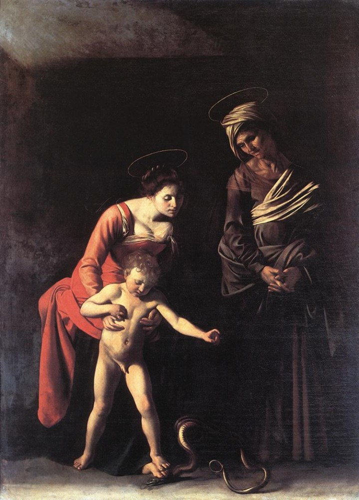 Madonna with the Serpent by Michelangelo Merisi da Caravaggio