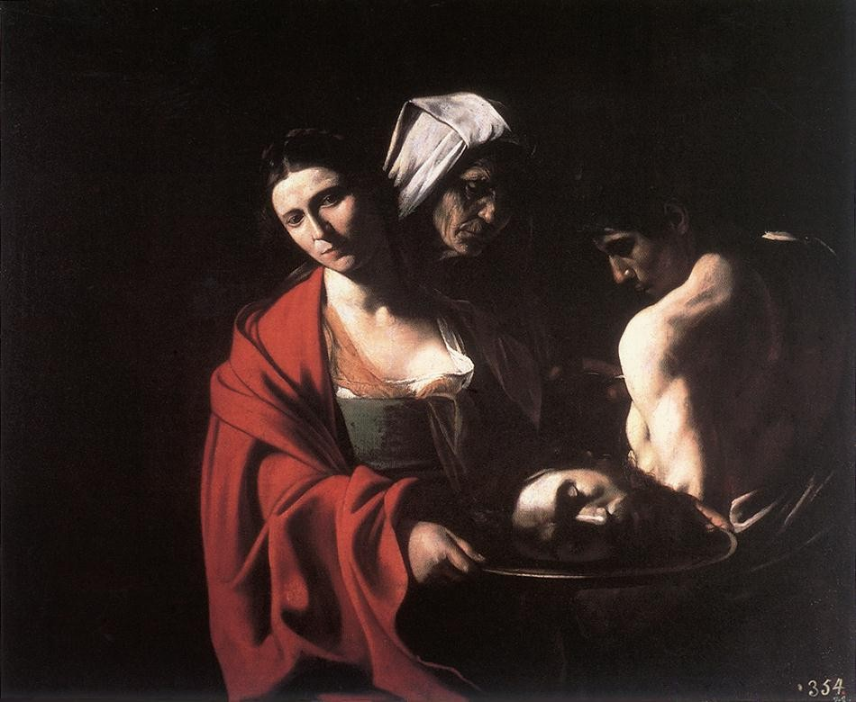 Salome with the Head of the Baptist by Michelangelo Merisi da Caravaggio