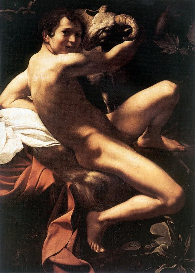 St John the Baptist Youth with Ram by Michelangelo Merisi da Caravaggio