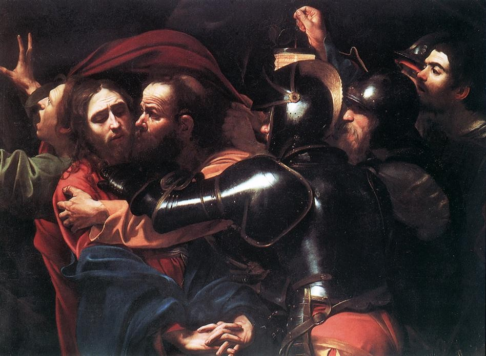Taking of Christ by Michelangelo Merisi da Caravaggio
