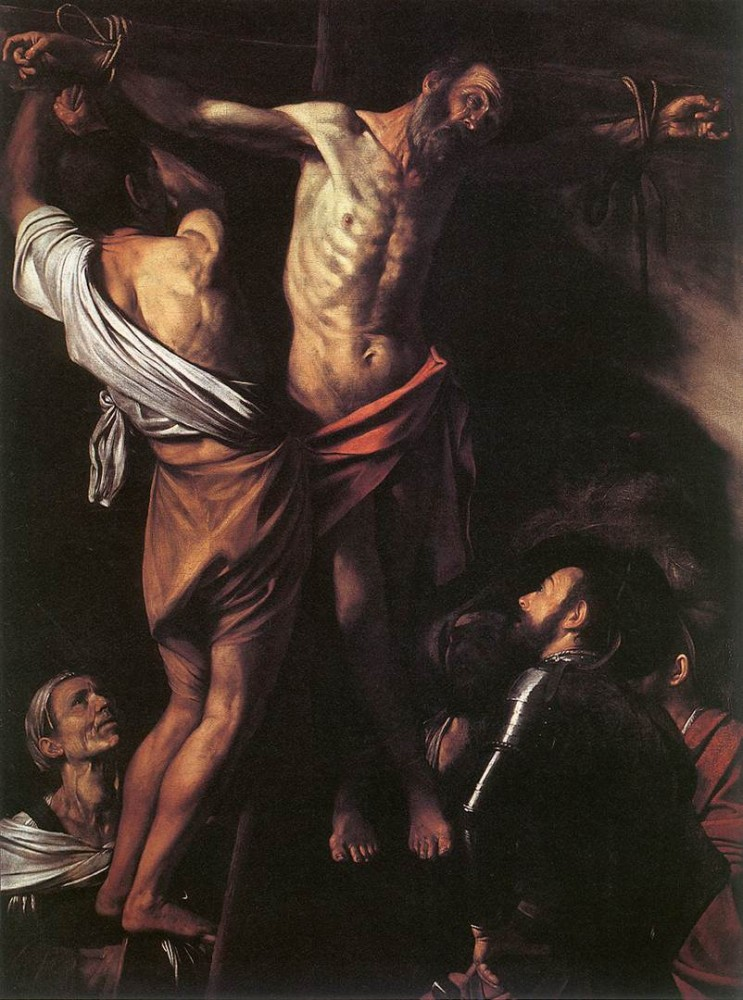 The Crucifixion of St Andrew by Michelangelo Merisi da Caravaggio