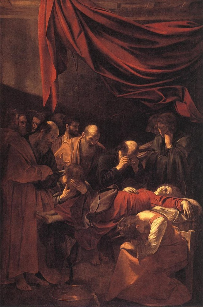 The Death of the Virgin by Michelangelo Merisi da Caravaggio