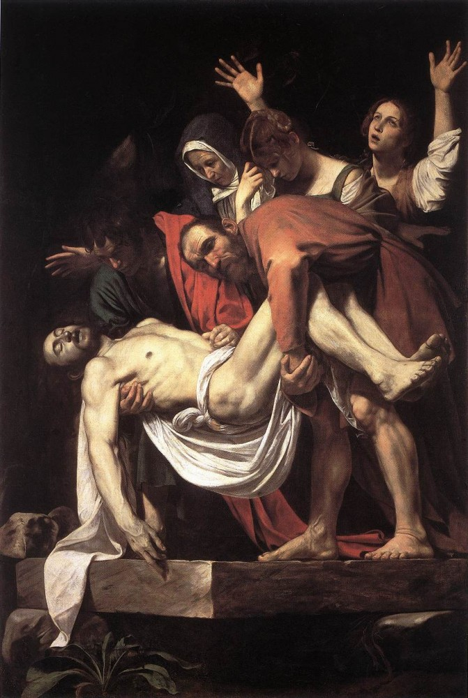 The Entombment by Michelangelo Merisi da Caravaggio