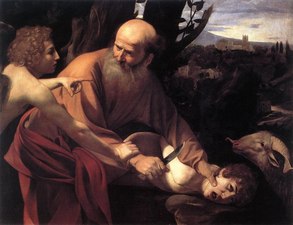 The Sacrifice of Isaac 1 by Michelangelo Merisi da Caravaggio