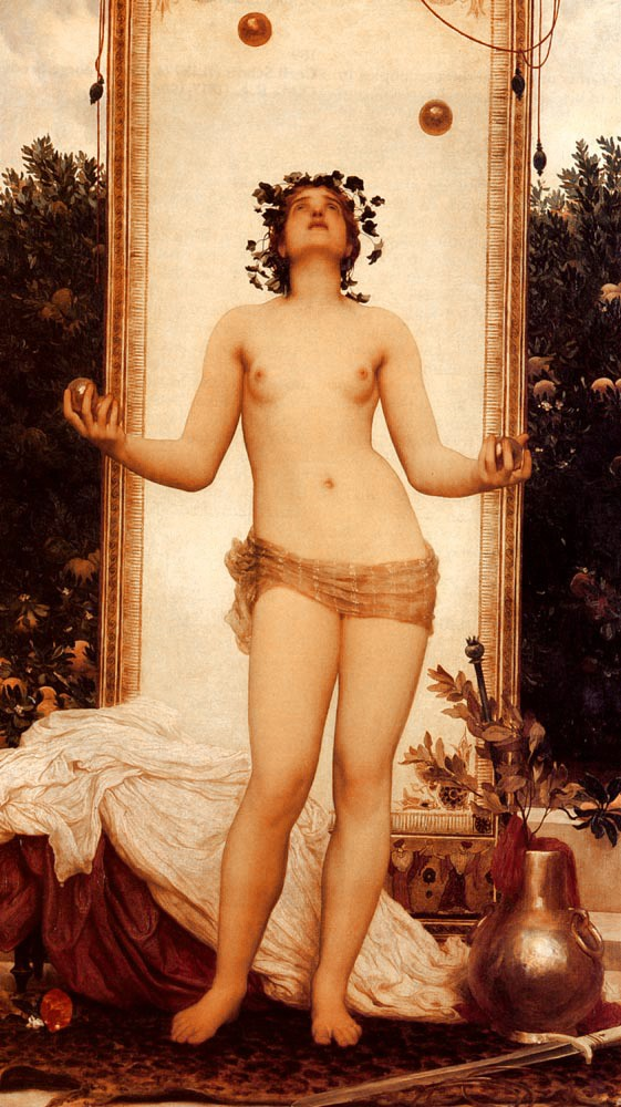 The Antique Juggling Girl by Sir Frederic Leighton