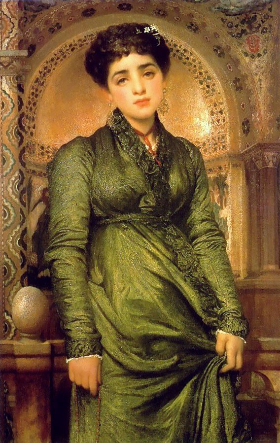 Girl in Green by Sir Frederic Leighton