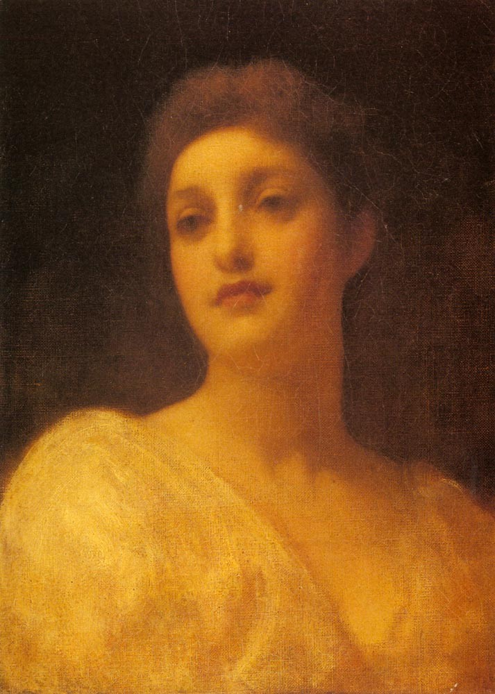 The Head Of A Girl by Sir Frederic Leighton