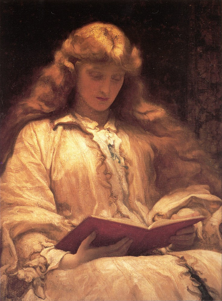 The Maid with the Yellow Hair by Sir Frederic Leighton