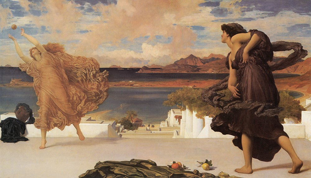 Greek Girls Playing at Ball by Sir Frederic Leighton