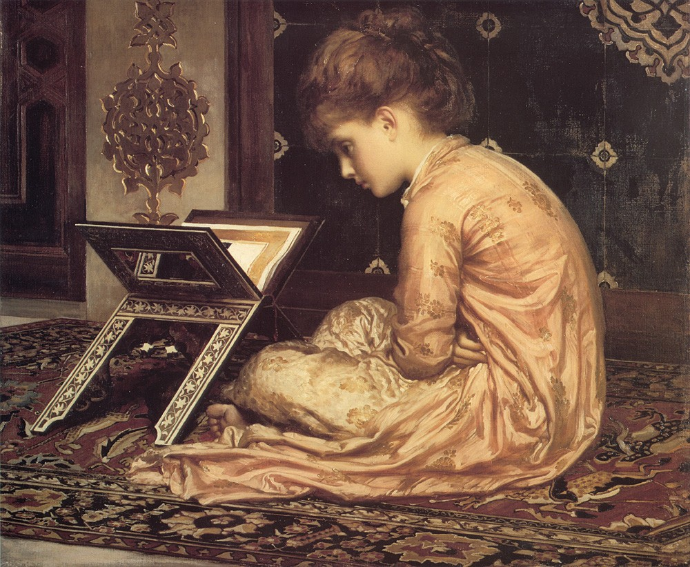 Study At a Reading Desk by Sir Frederic Leighton