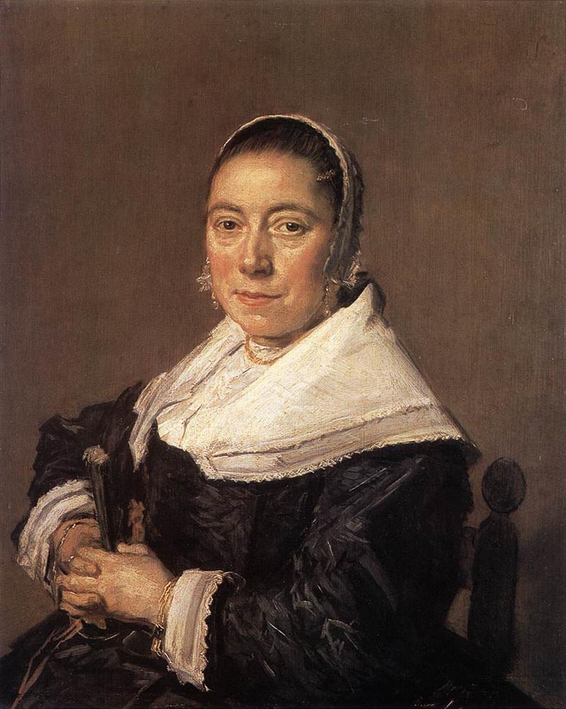 Portrait Of A Seated Woman Presumedly Maria Veratti by Frans Hals