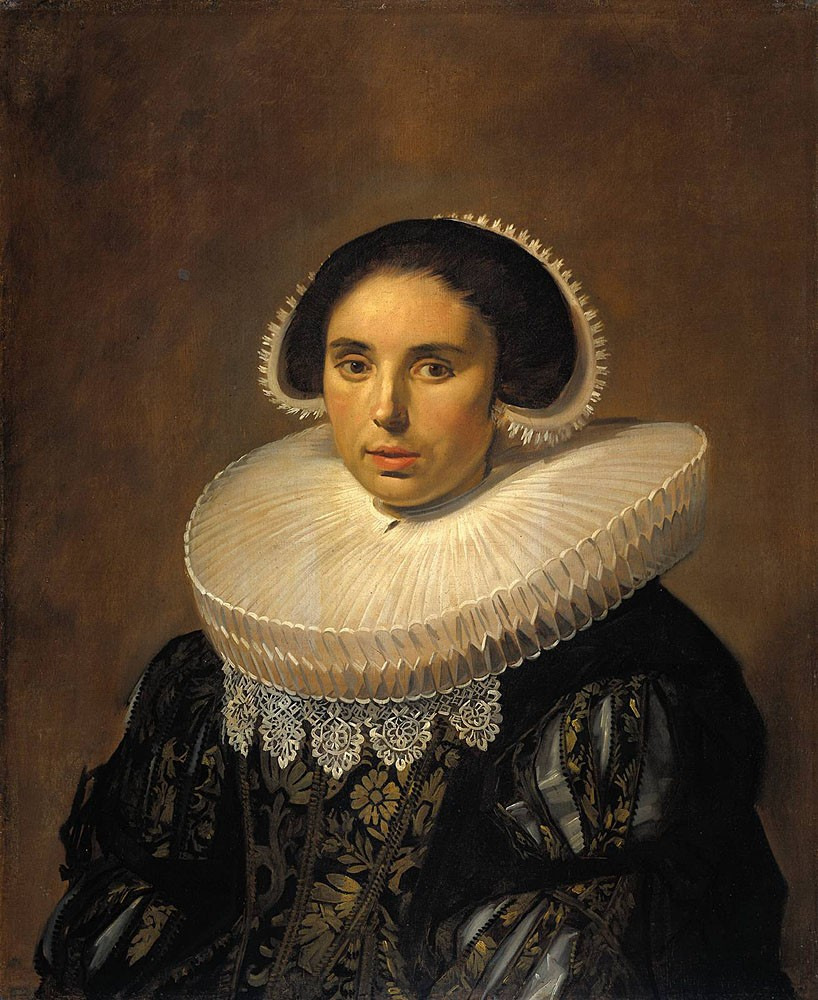 Portrait Of A Woman Possibly Sara Wolphaerts van Diemen by Frans Hals