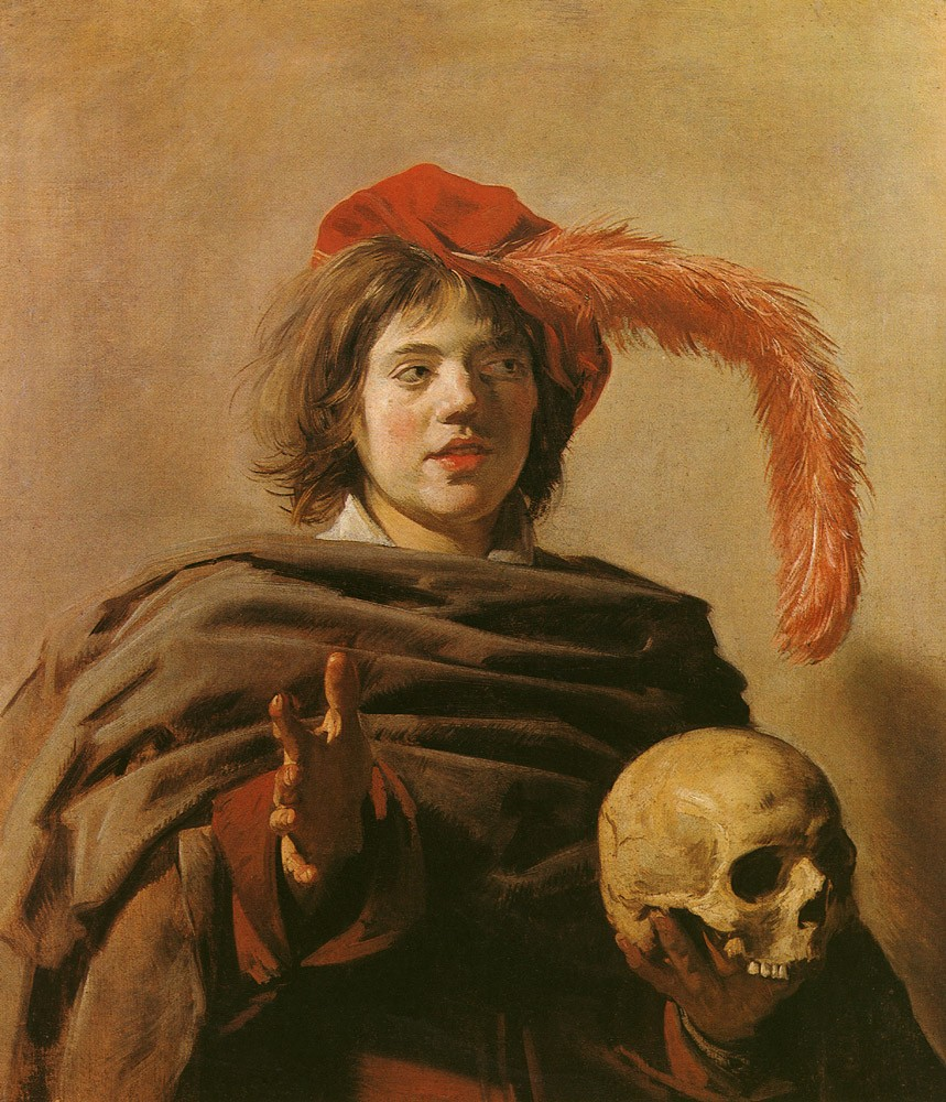 Boy With A Skull by Frans Hals