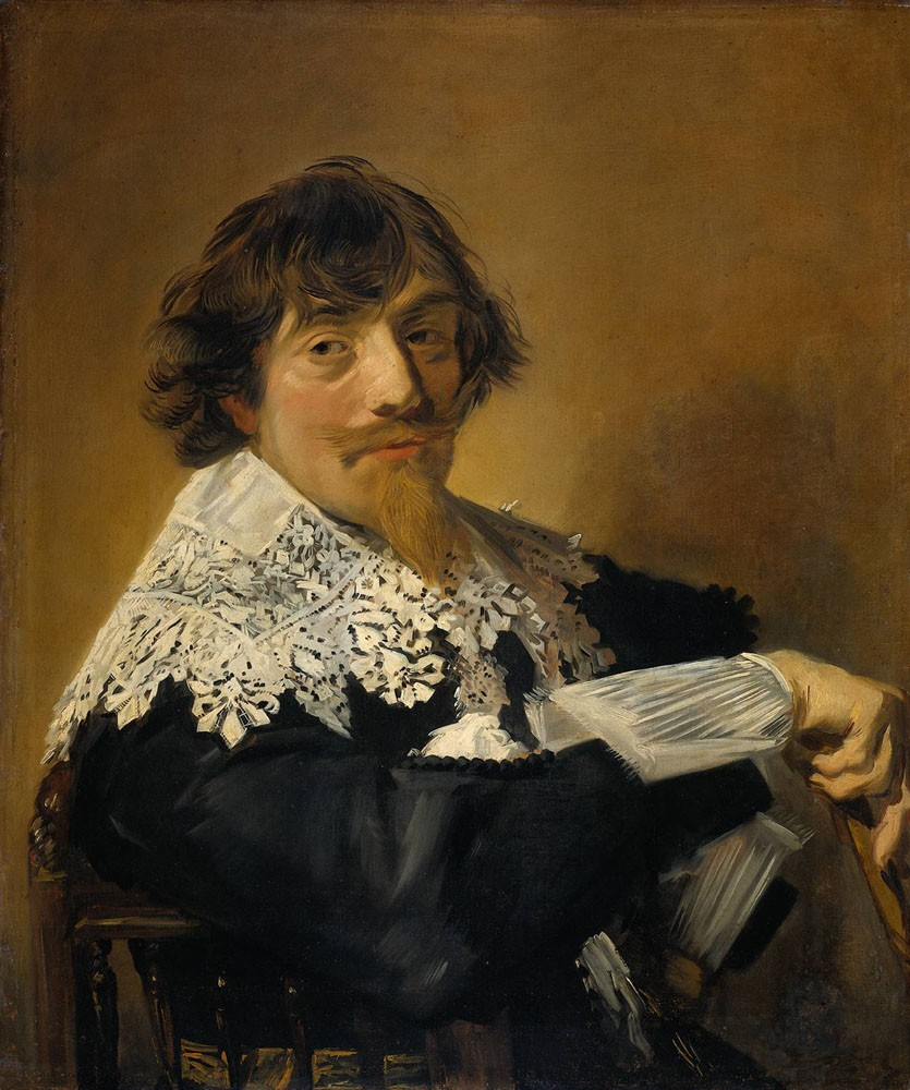 Portrait Of A Man Possibly Nicolaes Hasselaer by Frans Hals