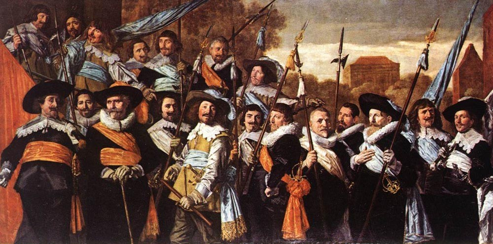 Officers And Sergeants Of The St Hadrian Civic Guard by Frans Hals