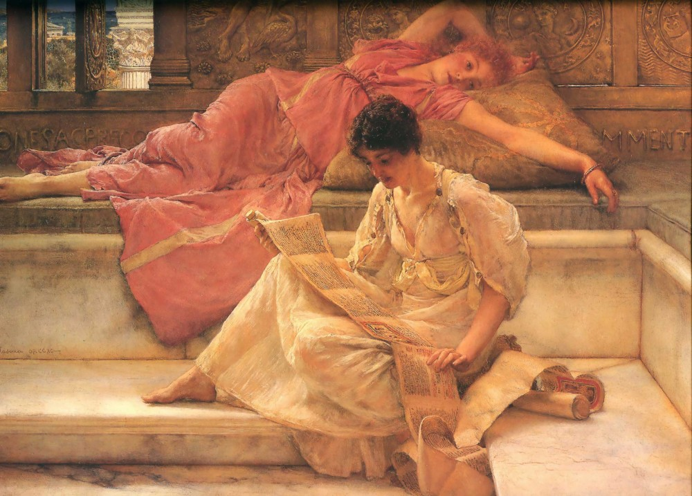 The Favourite Poet by Sir Lawrence Alma-Tadema