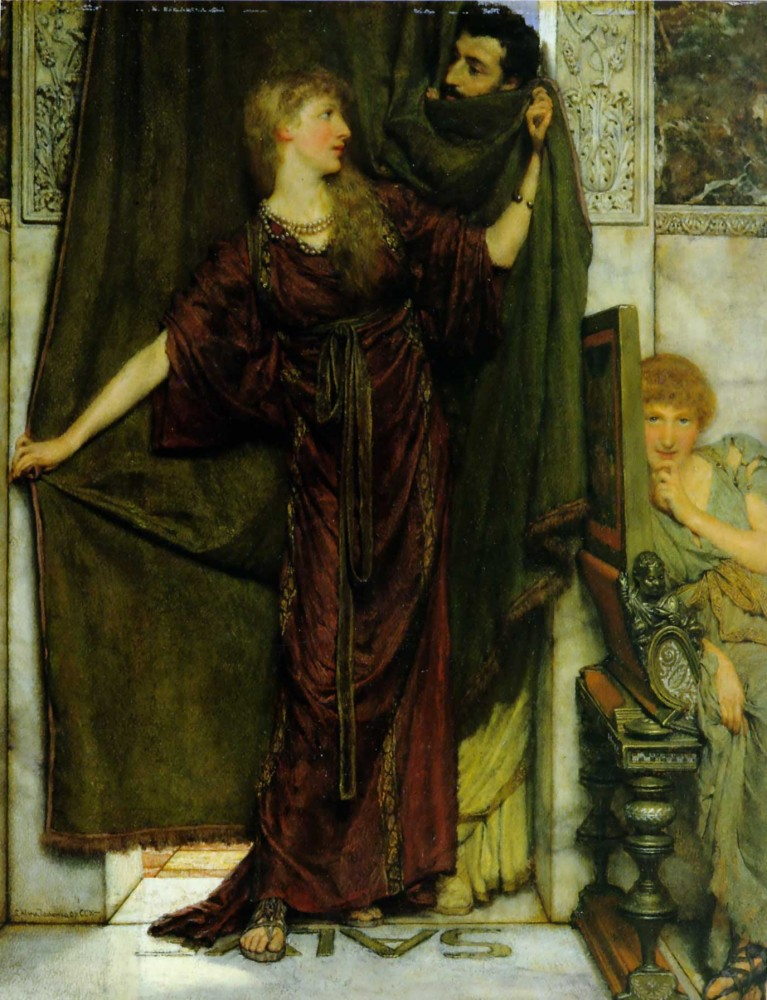 Not at Home by Sir Lawrence Alma-Tadema