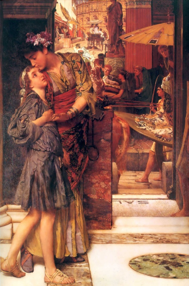 The Parting Kiss by Sir Lawrence Alma-Tadema