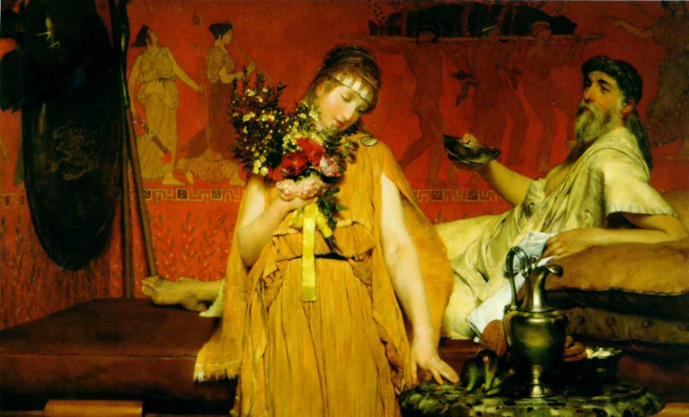 Between Hope and Fear by Sir Lawrence Alma-Tadema