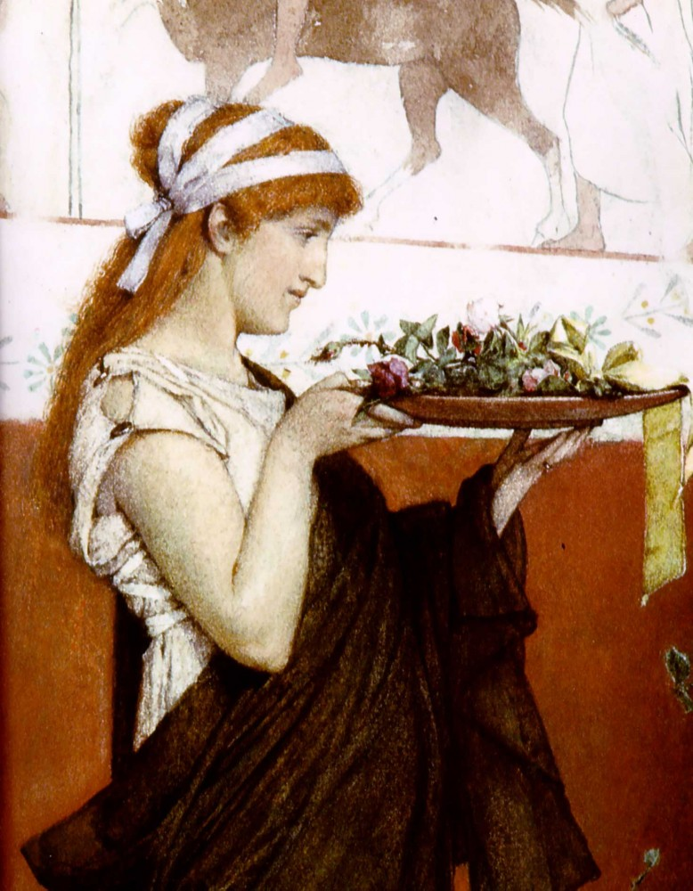 A Votive Offering by Sir Lawrence Alma-Tadema