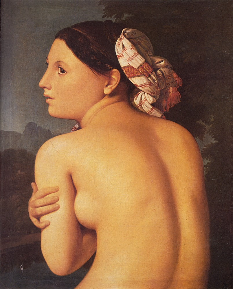 Half figure of a Bather by Jean-Auguste-Dominique Ingres