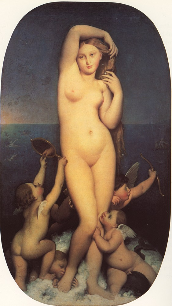 Venus Anadyomene by Jean-Auguste-Dominique Ingres