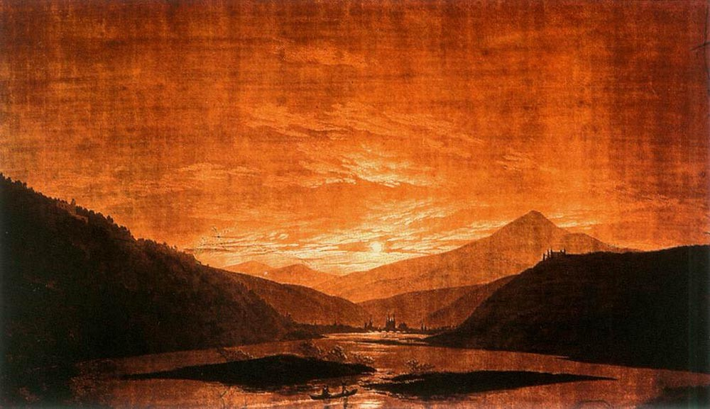 Mountainous River Landscape by Caspar David Friedrich