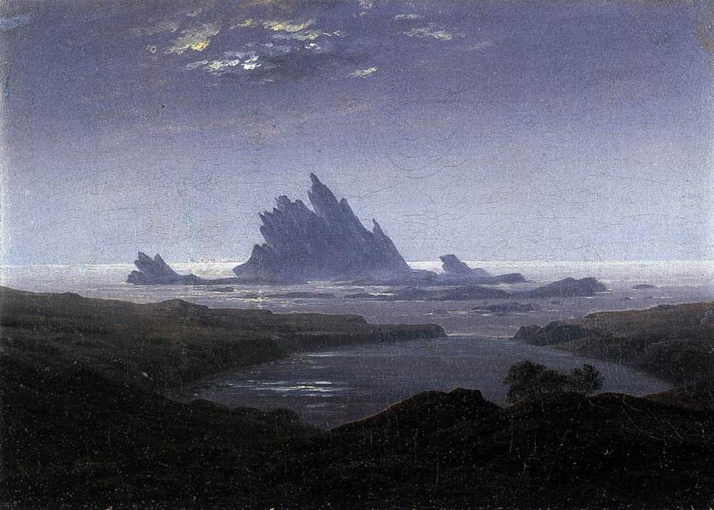 Rocky Reef On The Sea Shore by Caspar David Friedrich