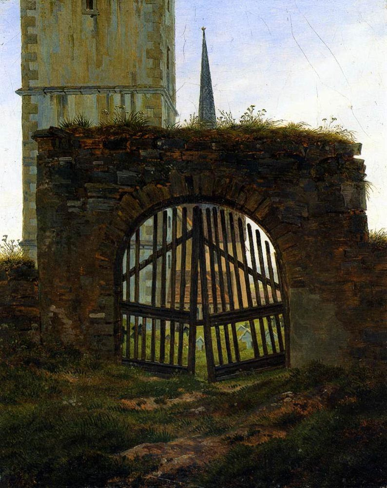 The Cemetery Gate by Caspar David Friedrich