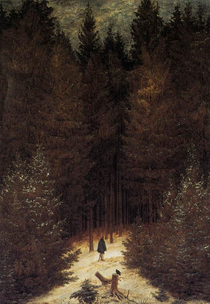The Chasseaur In The Forest by Caspar David Friedrich