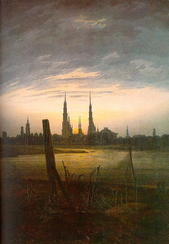 City at Moonrise by Caspar David Friedrich