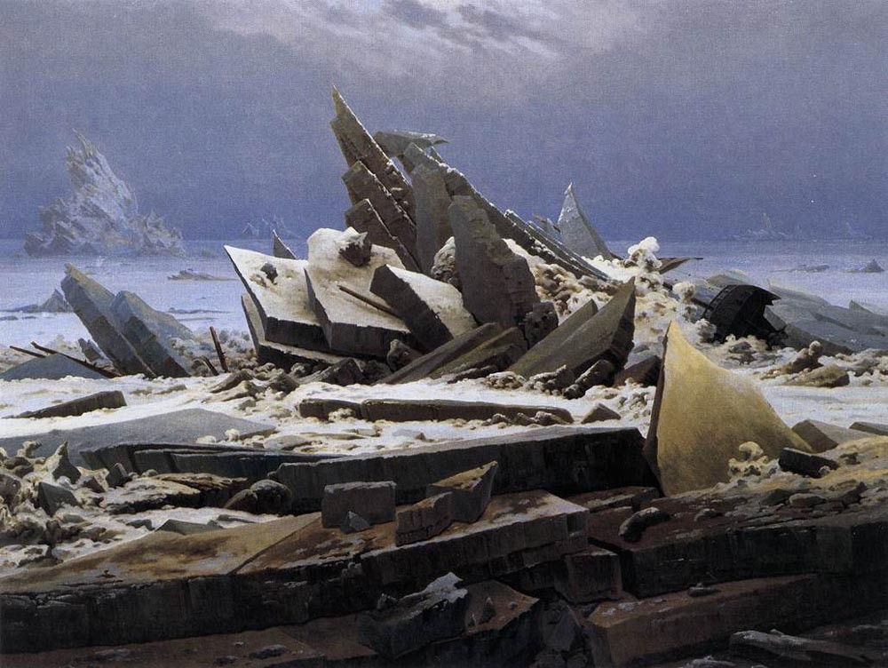 The Sea Of Ice by Caspar David Friedrich