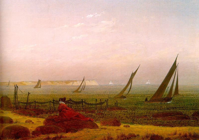 Woman on the Beach of Rugen by Caspar David Friedrich