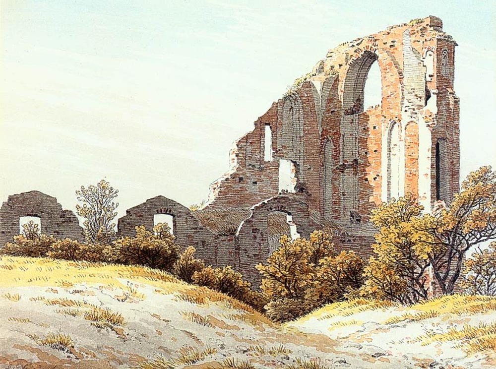 The Ruins Of Eldena by Caspar David Friedrich