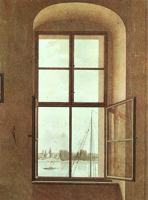 View from the Painters Studio by Caspar David Friedrich