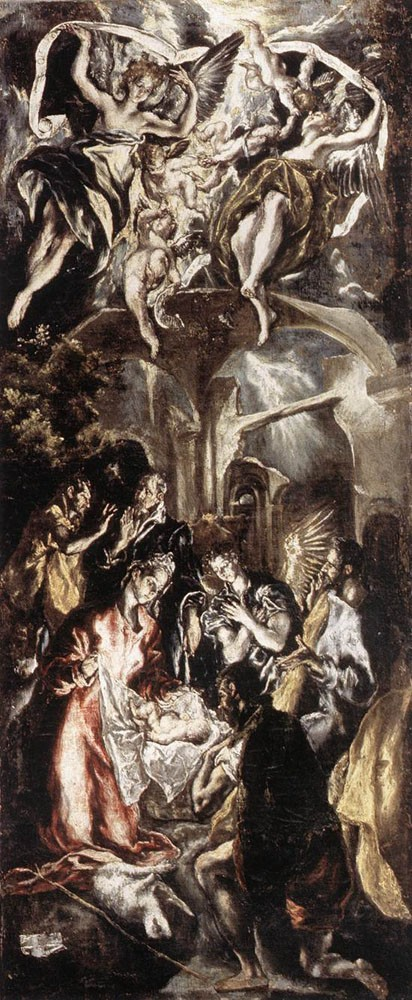 Adoration of the Shepherds by Doménikos Theotokópoulos (el Greco)
