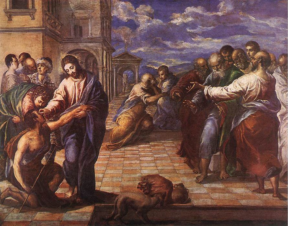 Christ Healing the Blind by Doménikos Theotokópoulos (el Greco)