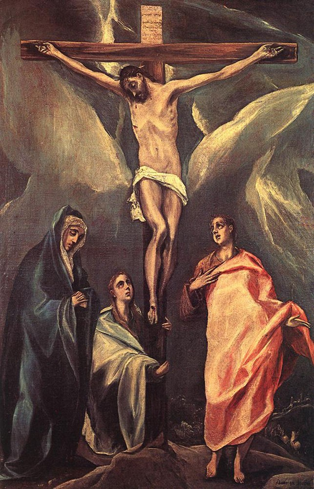 Christ on the Cross with the Two Maries and St John by Doménikos Theotokópoulos (el Greco)