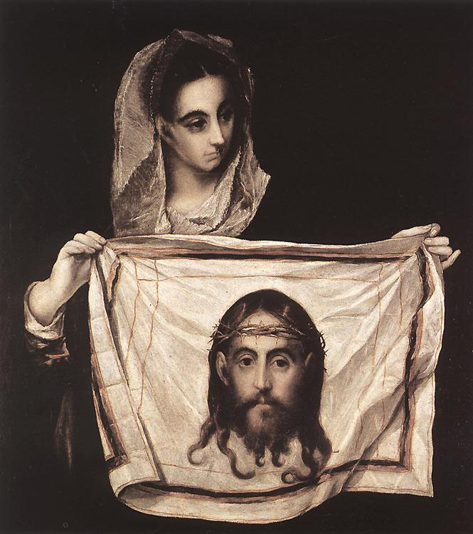 St Veronica with the Sudary by Doménikos Theotokópoulos (el Greco)