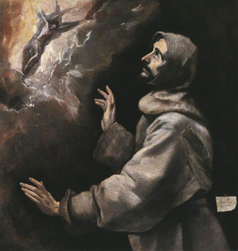 St. Francis Receiving the Stigmata by Doménikos Theotokópoulos (el Greco)