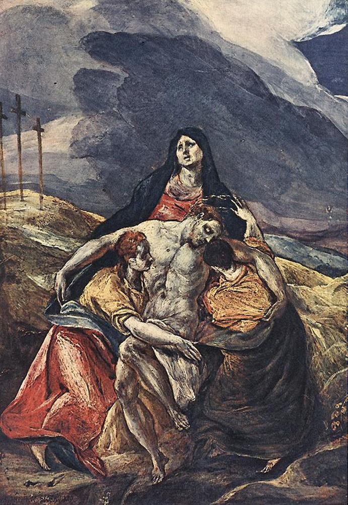 The Pieta The Lamentation of Christ by Doménikos Theotokópoulos (el Greco)