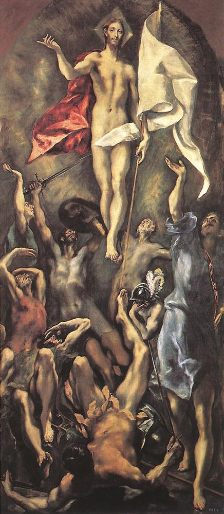 The Resurrection by Doménikos Theotokópoulos (el Greco)